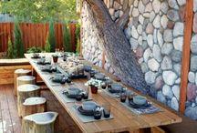 Outdoor Küchenmöbel gartengestaltung überdachung