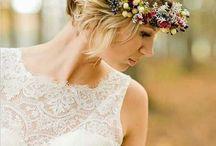 Krátké svatební  vlasy