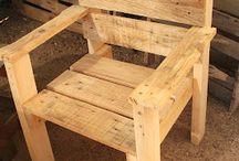 Sillas, Bancos y Mesas de madera