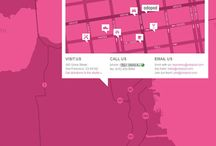 Designer Maps / Various map reference for corporate communication projects