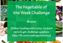 """~✶Vegetable of the Week✶~ / PLEASE READ BEFORE YOU PIN!! Want to spark your creativity in the kitchen, eat more healthfully, & have some fun?! Then join us in Cooking with Corey's """"Vegetable of the Week"""" Challenge! RULES: (1) Check this board (or http://fb.com/cookingwithcorey) for the weekly challenge vegetable. (2) Post photos of the original dishes you make for each challenge here, up to 1 pin per unique dish per day. (For board invites, please leave a comment on http://pinterest.com/cyberpenguin/message-board.) #votw"""