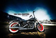 """Dyna Harley """"Hot Rod"""" by Vida Loca Choppers / Dyna Harley Hot Rod Designed by Vida Loca Choppers in 2009"""