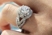 white/platinum engagement rings