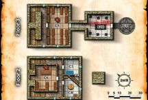 Dungeon and Building Maps
