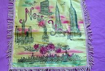 GORGEOUS SOUVENIR NEW YORK CITY PILLOW COVER-WATERED SILK WITH FRINGE-EXCEPTIONAL CONDITION-CHECK IT OUT