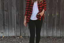 Plaid and jeans