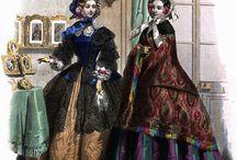 Šaty dobové malované