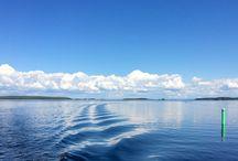 Veneellä / Saimaan näkymiä