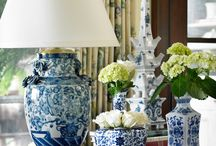 Blue and White Vignettes