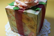Gift boxes & punch board