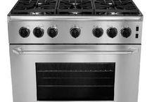 "Barkow Kitchen Appliances / 36"" stainless range-gas 24"" dishwasher / by Michael Zimmerman"