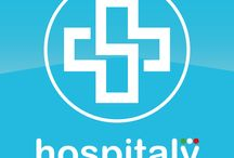 app hospitaly / graphic design for the app hospitaly. The hospital trip advisor