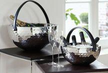 Fink Weinkühler / Fink Living – Exklusive Wohnaccessoires aus Silber, Edelstahl und Glas