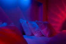 "Mood Rooms / Colour is not just something we see but also something we feel. Colour and light influence our minds and bodies. Our Mood rooms are furnished with a light-bed that lets you set your own colours, tempo and intensity. Become a ""light DJ"" and discover subtle nuances of colour at the touch of a button."