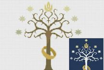 Trees cross stitch project