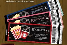Ticket Style Invitations