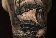 tattoo ship ocean
