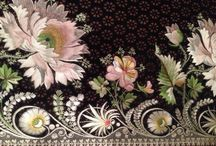 Embroidery and textile samples (18th/19th c.)