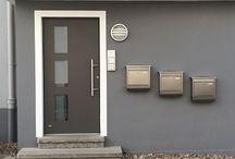 Haustür / Aluminiumtür / Haustür, Hauseingang von Mester aus Bielefeld. GrauteTür Aluminiumtür Alu-Tür Alu-Haustür AluminiumGlashaustür