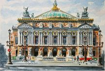Historical places' paintings
