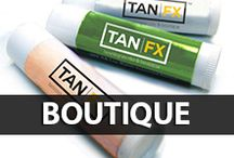 Tan FX Boutique / Visit your local Tan FX to purchase these awesome items! Selection varies by store.