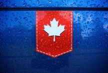 Canadian Maple Leaf stickers