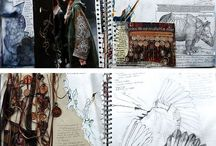 a level art and textiles layout pages