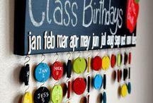 Születésnapok tábla ötletek