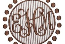 Machine Embroidery Alphabets and Frames