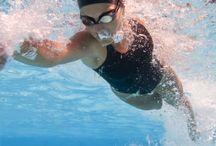 Triathlon: swim, bike, run.