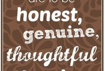 The Love Quotes Celebrity Quotes : My guiding principles in life are to be honest, genuine, thoughtful and caring. …