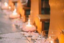 świece na ślubie