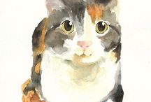 Animals watercolor/ aquarelas