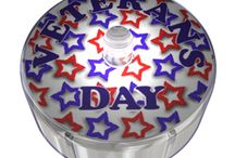 Veteran's Day Party Dot Designs / Veteran's Day Party Dots labels are a great way to show you are true RED, WHITE and BLUE and show your support and love in a fun way. Just peel and stick your Patriotic Labeled Party Dot almost anywhere, on your shirt, on your hat, front door, mail box, to presents, windows, gifts and more.  Party Dots are super bright and come in 6 great colours of red, white, blue, green, orange and pink, they blink, glow, turn on and off and last for days and days. Party Dots the light of the Party.