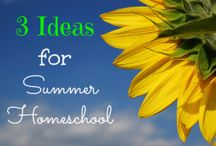 Summer homeschool plans