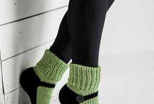 ponožky / pletené a háčkované