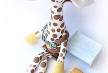 girafa com molde e passo a passo