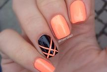 nail art avec du orange