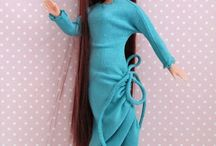 Seven Turquoise handmade clothes and accessories for dolls