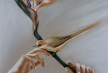 Hands and birds / Soft pastel