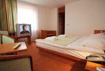 Pokoj typu Superior a Standard / Standardní pokoje o rozloze 25m² jsou pohodlně a vkusně zařízeny. Na těchto pokojích jsou oddělené postele o velikosti 2x1m nebo manželské postele o velikosti 2x2m.  Superior má větší rozlohu pokoje i koupelny a jsou přizpůsobeny pro osoby s tělesným handicapem. Celková rozloha pokoje je 35m². Pokoj disponuje manželskou postelí.