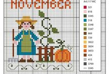 X-stitch / Months_Seasons