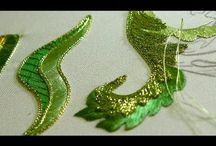 Embroidery stitch and gold