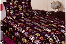 Skull Bedding / Skull bedding sets and bedroom accessories available from Kids Bedding Dreams online store. www.kidsbeddingdreams.com