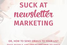 Email Marketing Tips / Tips for marketing your products, website, or blog through email newsletters