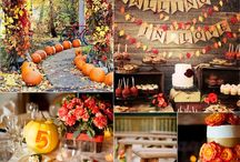 Purple and Orange Wedding Ideas! / Fall wedding ideas with a purple and orange theme / by Jeanne Patterson