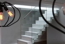 Zigzag stairs in marble. / Design and build zigzag stairs by Railinglondon ltd.