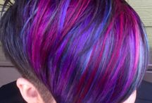 Funky coloured hairstyles