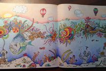 Johanna Basford colouring book..and others