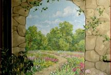 Male en dør eller væg